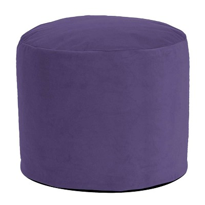 Tall Pouf Bella Eggplant -Howard Elliott