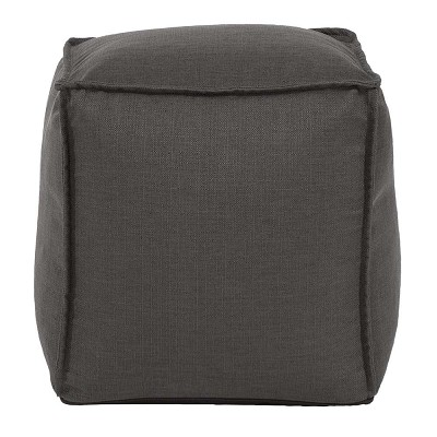 Square Pouf Sterling Charcoal -Howard Elliott