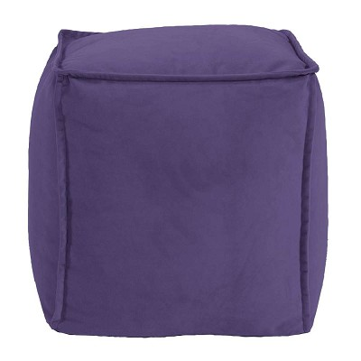 Square Pouf Bella Eggplant -Howard Elliott