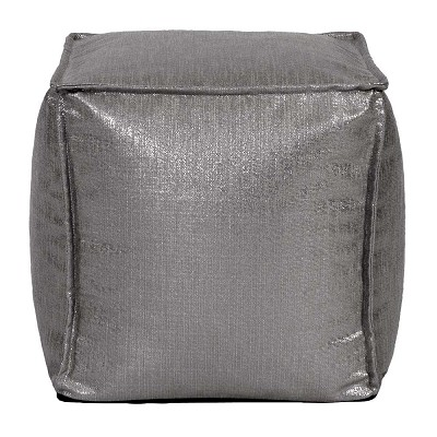 Square Pouf Glam Zinc -Howard Elliott