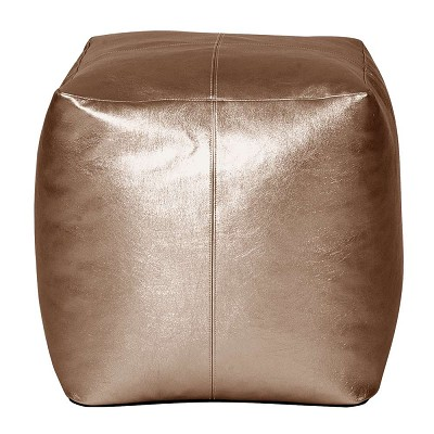 Square Pouf Shimmer Bronze -Howard Elliott