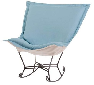 Chicago Textile puff rocker-Titan Crystal Blue