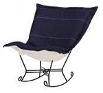 Chicago Textile puff rocker-Denim Indigo