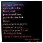 Quotable Canvas wall Art-Live with Intention