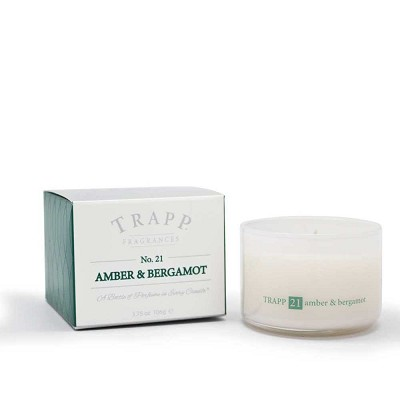 Trapp Candles No 21-Amber & Bergamot-3.75 Oz Poured Candle