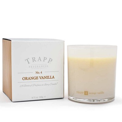 Trapp Candles No 4-Orange Vanilla-8.75 Oz Poured Candle