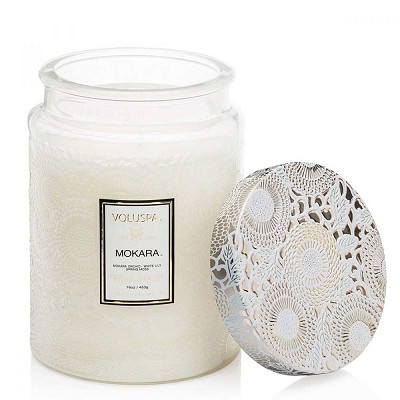 Voluspa Mokara Large Glass Jar Candle