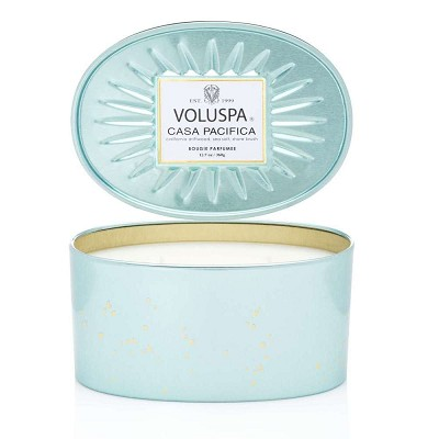 Voluspa Casa Pacifica 2 Wick Decorative Oval Tin