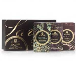 Voluspa Rouge Shea Butter Soap Trio