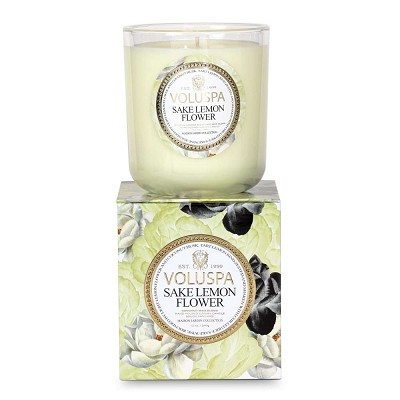 Voluspa Sake Lemon Flower Candle