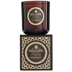 Voluspa Golden Cypress Sawara Candle