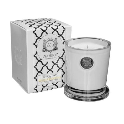 Aquiesse White Ginger Lily 100 Hr Soy Candle
