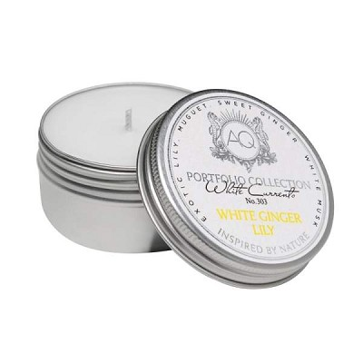 Aquiesse White Ginger Lily Travel Tin