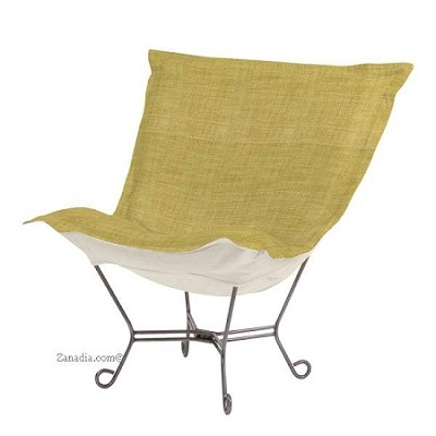 Howard Elliott puff chair-Coco Peridot