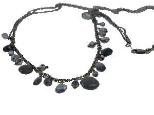 Heather Mix Beaded Chain sterling silver necklace by Dana Kellin