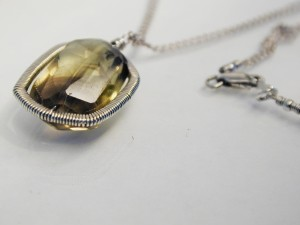 Lemon quartz necklace by Dana Kellin