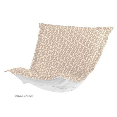 CTC Puff Chair replacement cover with cushion-Geo Stone-Patio