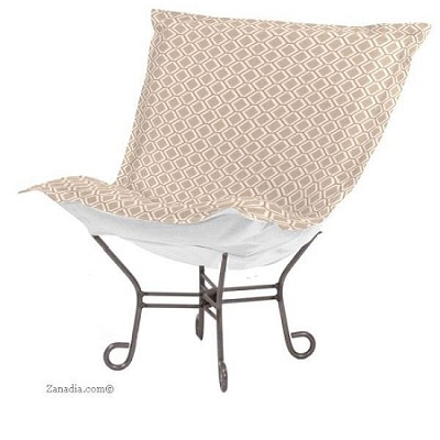 Chicago Textile Puff Chair Geo Stone Patio