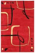 Jaipur Rugs Scribble Down in Ribbon Red