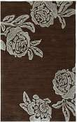 Jaipur Rugs Bed of Roses in Dark Chocolate