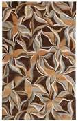 Jaipur Rugs Star Jasmine in Brown-Sun Orange