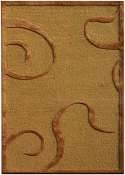 Jaipur Rugs Curled Up in DARK AMBER GOLD