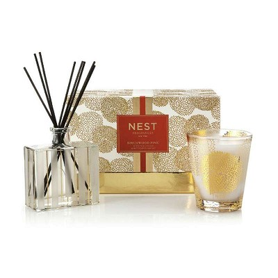 Nest Birchwood Pine Diffuser & Candle Gift Set