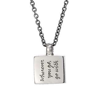 Jeanine Payer Emmie Necklace-Sterling Silver-Tao Saying