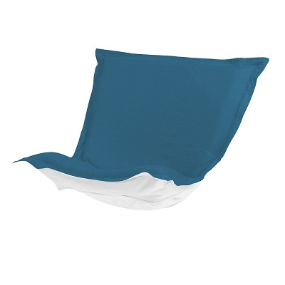 Puff Chair cover with cushion-Sunbrella Seascape Turquoise