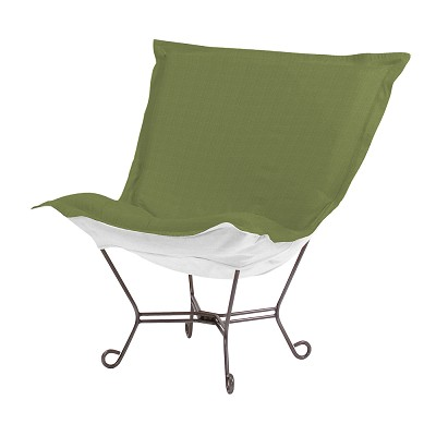 Howard Elliott Puff Chair-Sunbrella Seascape Moss