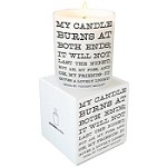 <i>My Candle Burns</i> Quotable Candle- Wild Currant scent