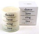 <i>Dance Love Sing</i> Quotable Candle- Wild Currant scent