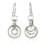 Sun & Moon sterling silver earrings by Satya Jewelry