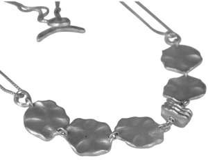 Saundra Messinger Small & Medium Lilypad 17-inch Necklace