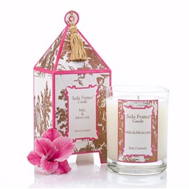 Seda France Pagoda Candle-Miel & Muscade (Honey & Nutmeg)