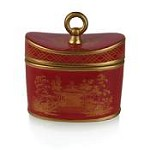 Seda France Red Amber Jardins Ceramic Candle