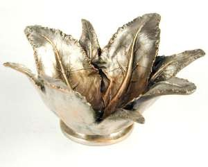 Silver Seasons Table Art Cabbage Serving Bowl