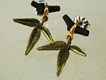 Bamboo post earrings by Michael Michaud for Silver Seasons