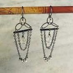 Susan Goodwin Double Chain Drop Quartz Earrings