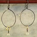Susan Goodwin Quartz Hoop-Gold filled ring Earrings
