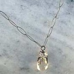 Susan Goodwin Simple Quartz  Pendant Necklace