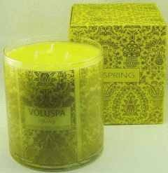 Voluspa Three-Wick candle-Spring  (Limoni Frosted Biscotti)