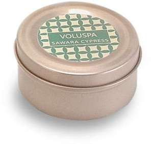 Voluspa Basics Travel Candle Tin - Sawara Cypress