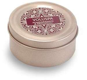 Voluspa Basics Travel Candle Tin - Pomegranate Patchouli