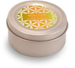 Voluspa Basics Travel Candle Tin - Feuilles D'Orangerie