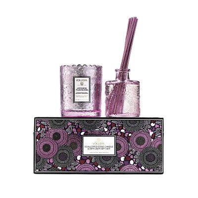 Voluspa Japanese Plum Bloom Candle & Diffuser Gift Set
