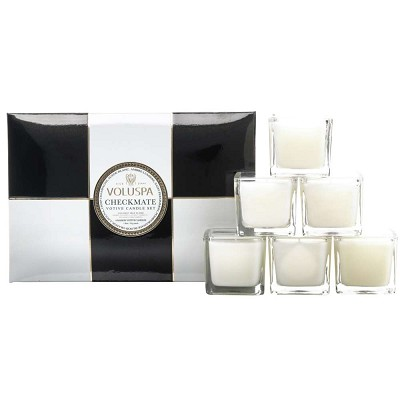 Voluspa Checkmate 6 Candle Gift Set