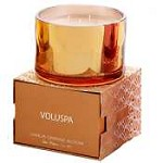 Voluspa 3-Wick Color Metallic Candle-Velvet Box - Dahlia Orange Bloom
