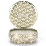 Voluspa Three wick Tin-Truffle White Cocoa