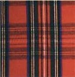 Waratah Merino Wool Stadium / Picnic Blanket Fringed on two ends. Tartan-Royal Stewart.